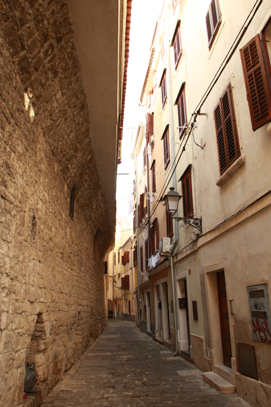 Piran's narrow streets