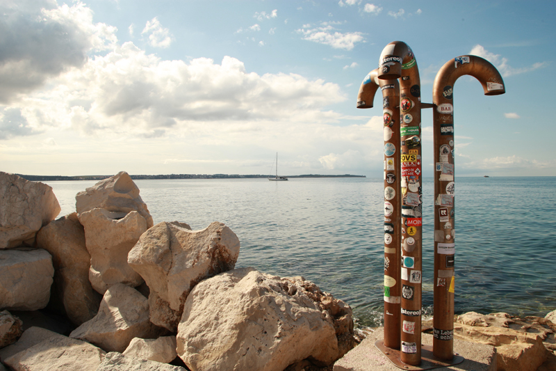 Sea view from the Piran's Promenade