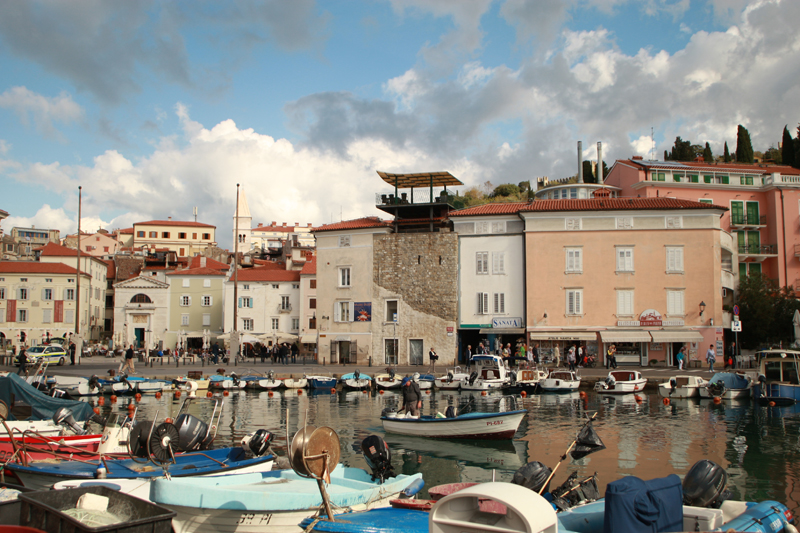 Boat dock in Piran